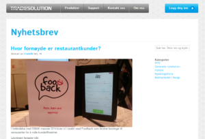 Foodback in tradesolution.no