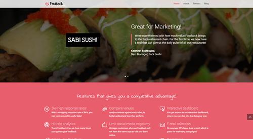 New Foodback Website