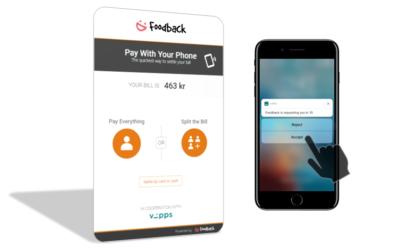 Foodback lanserer mobilbetaling med superenkel splitt-funksjon