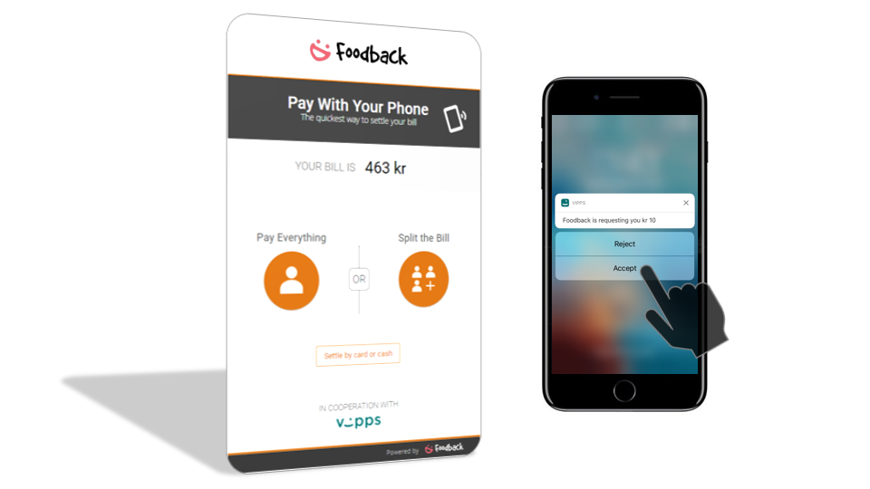 Foodback mobile payment cover picture