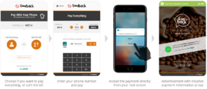 Mobile payment with Foodback