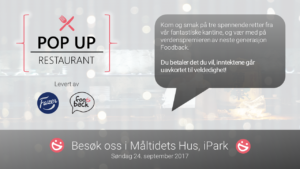 Skilt til Foodback Pop Up Restaurant - sosiale medier