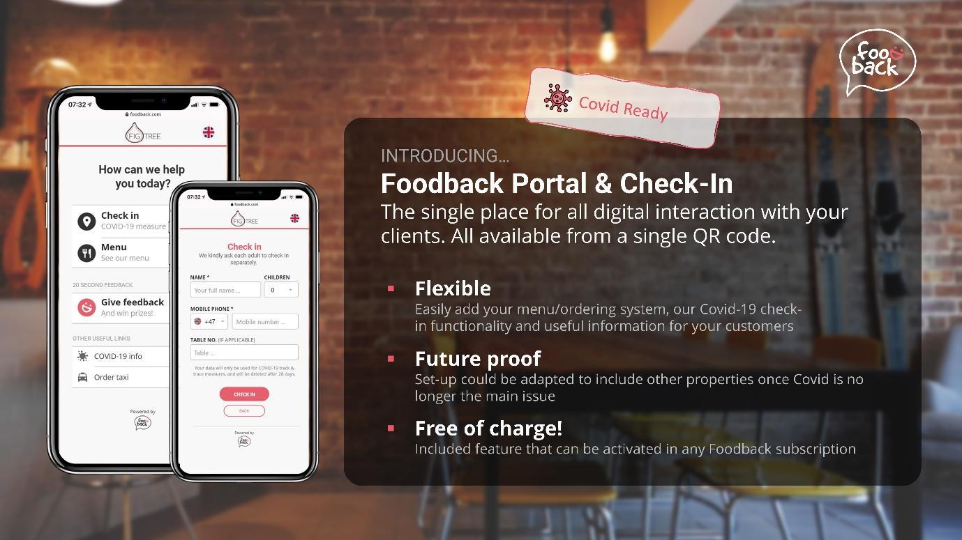 Foodback Portal & Check-in